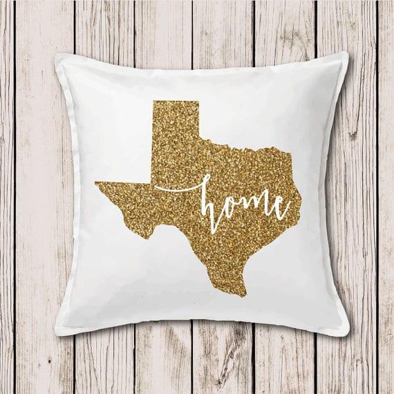 gift for her gold glitter pillow case