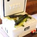 yeti cooler grooms cake idea