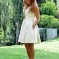 classic white shower dress