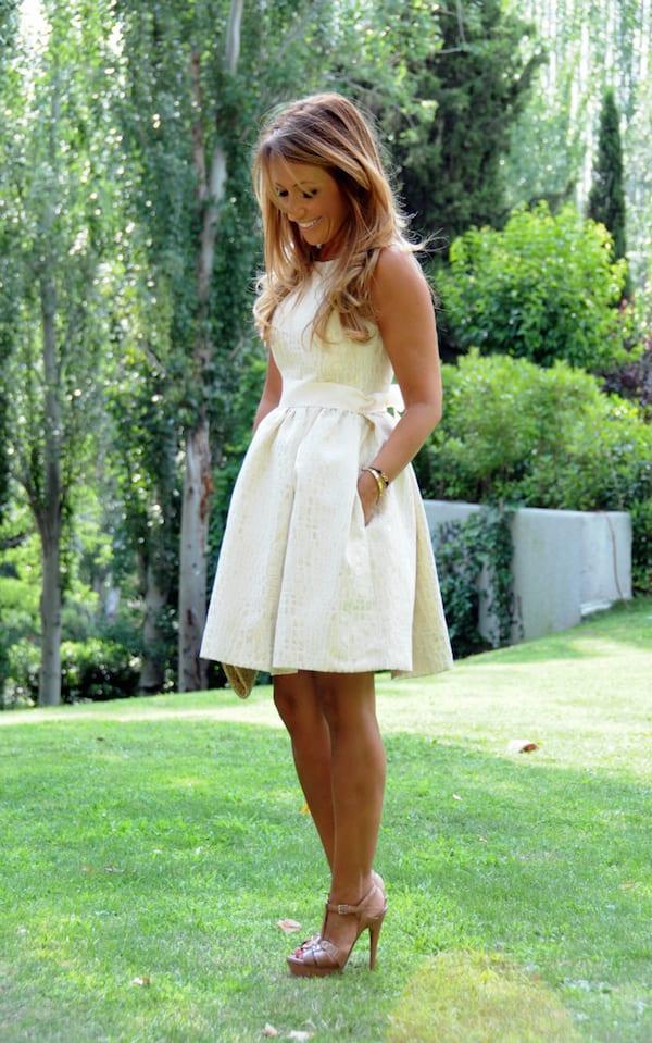 classic white shower dress