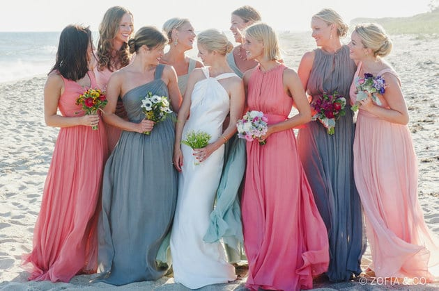bridesmaids dress that goes together without being the same