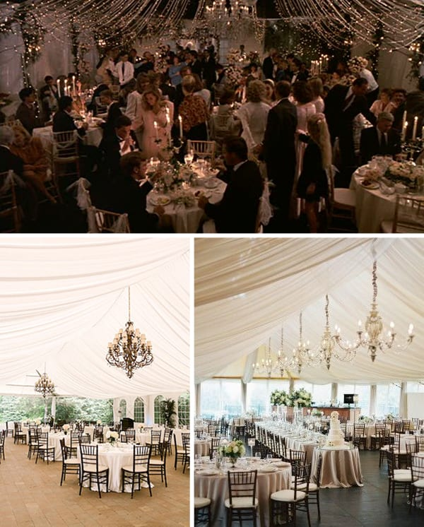 Black and White Tented Wedding