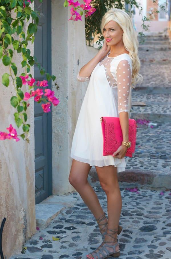 modern bride short dress