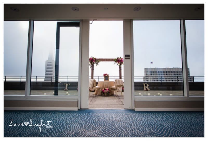 San Francisco Rooftop Wedding Proposal