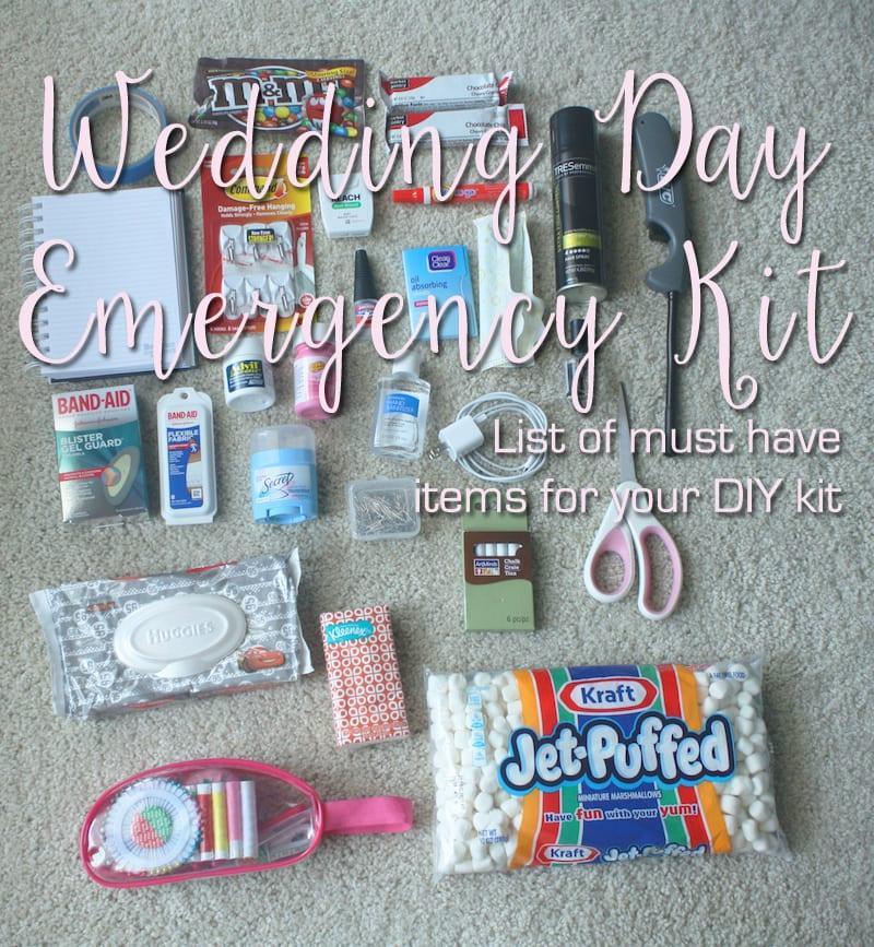 Wedding Day Emergency Kit | The Yes Girls