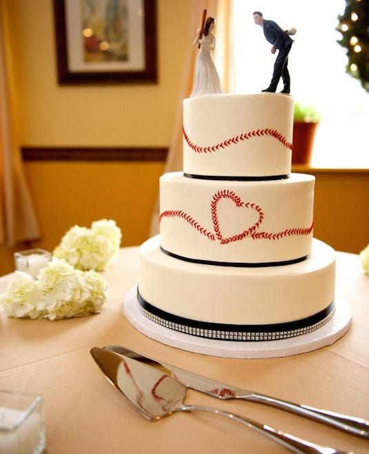 baseball themed grooms cake idea