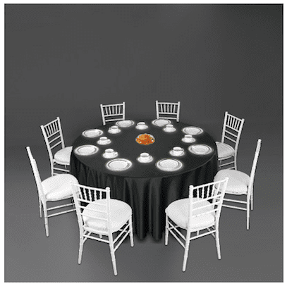 black with white wedding tablescape