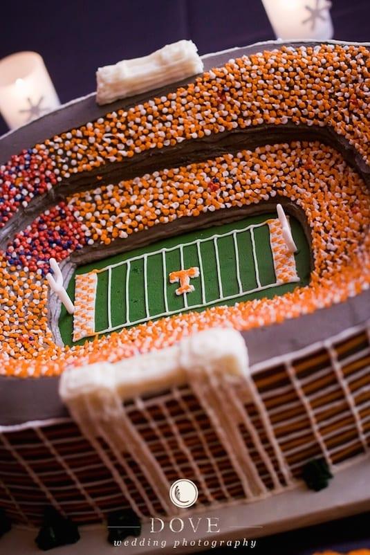 sports stadium grooms cake idea