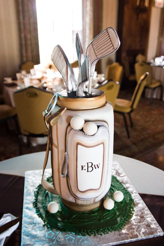 golf grooms cake idea