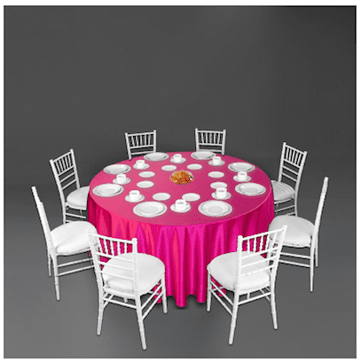 pink and white wedding tablescape