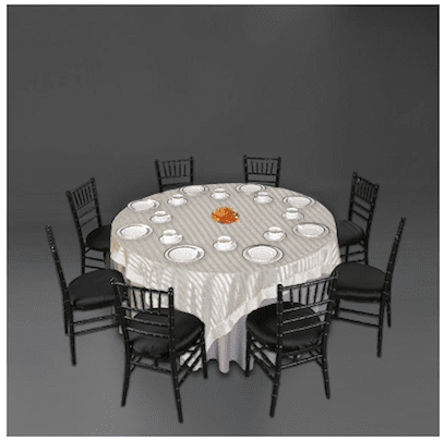 white with black wedding tablescape