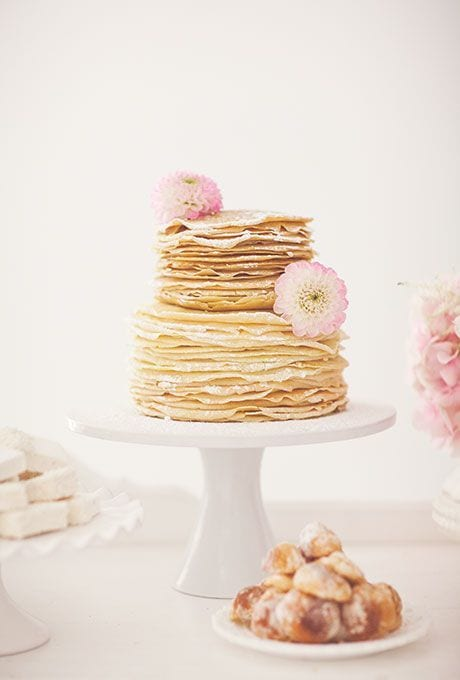 wedding cake of crepes