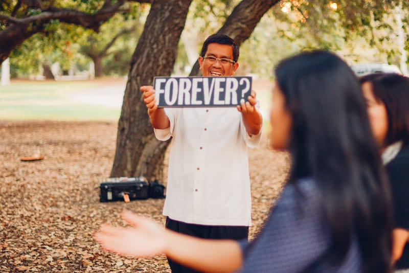 orange county park marriage proposal