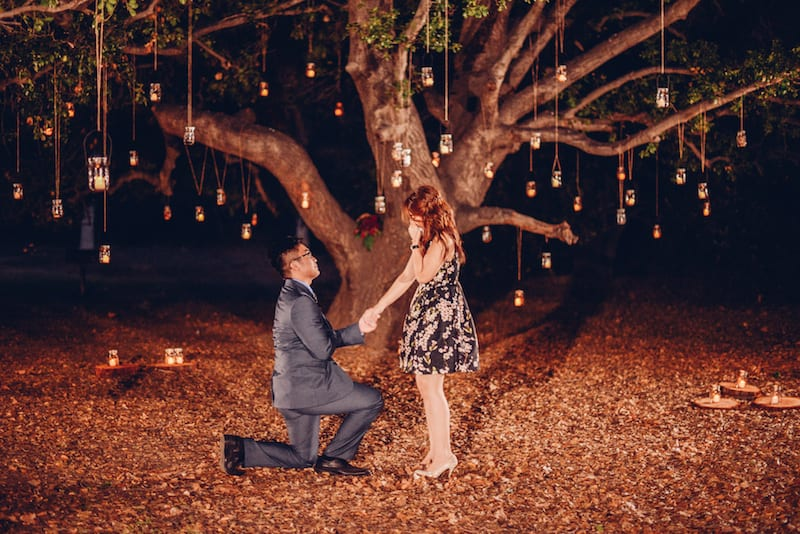 orange county park wedding proposal