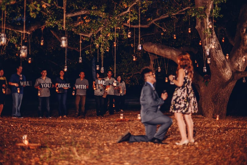 orange county park wedding proposal