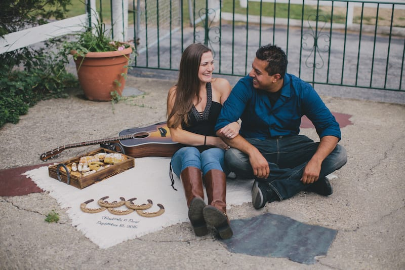 rustic proposal in new york