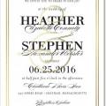 foil pressed wedding stationary