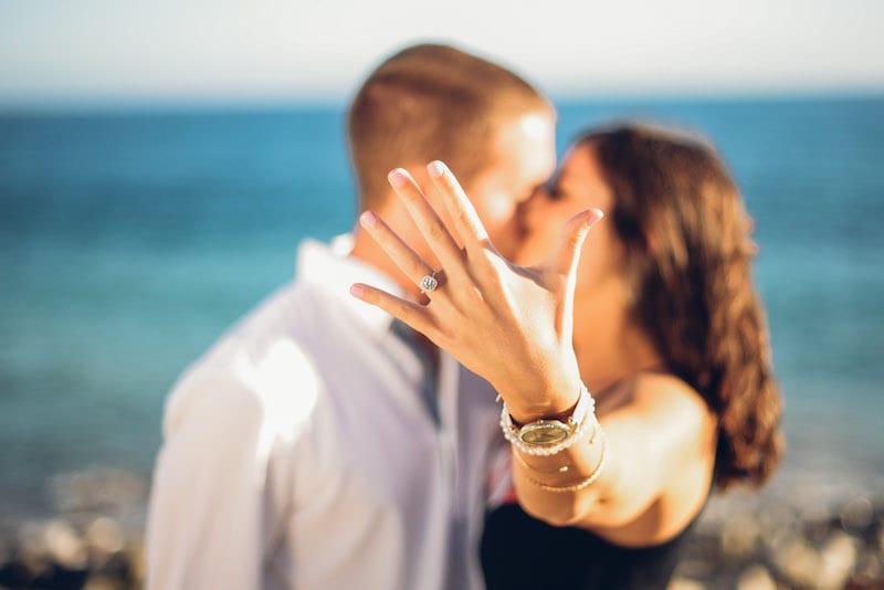 so cal private beach wedding proposal