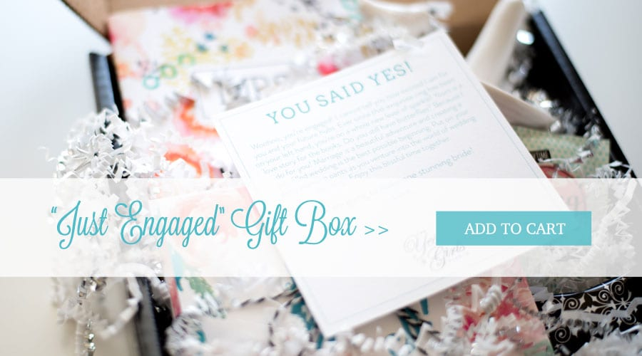 Just engaged engagement gift box the yes girls best engagement gift box for bride to be negle Choice Image