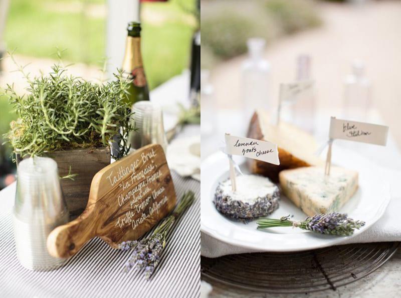 organic ambiance wedding table