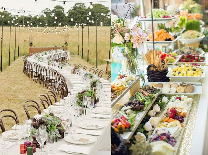 romantic organic feeling wedding table