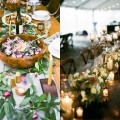 romantic organic feeling wedding table