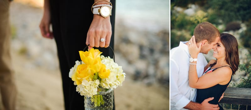 southern California private beach wedding proposal