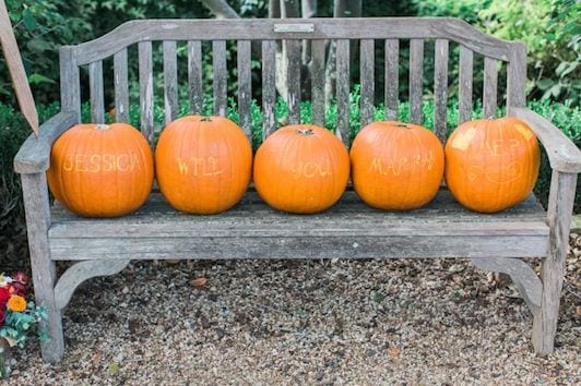 Fall Pumpkin Marriage Proposal