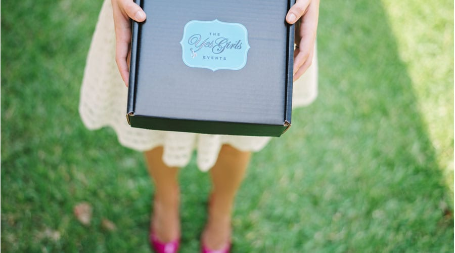 send and delivered just engaged gift box for bride