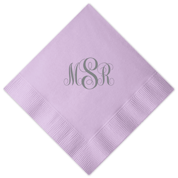 interlocked monogram wedding napkin