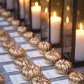 october wedding decor