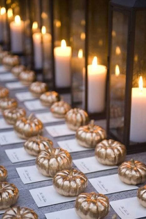 october wedding decor