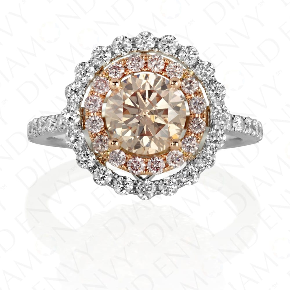 Diamond Envy Pink Round RIng