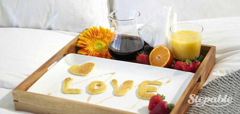 couple in love breakfast