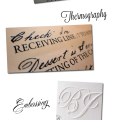 different printing techniques of wedding stationary