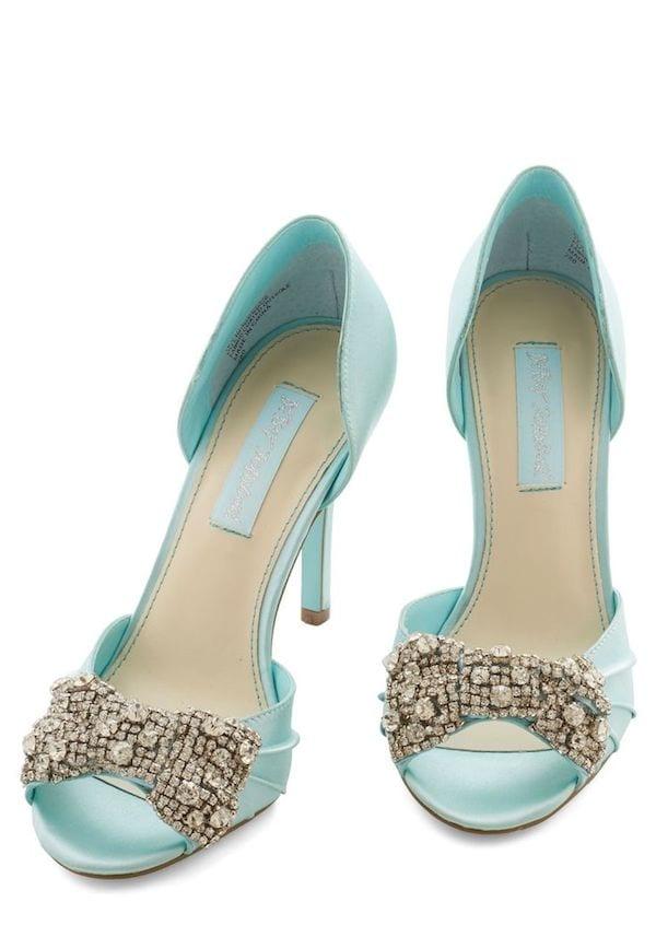 something blue: bridal shoes