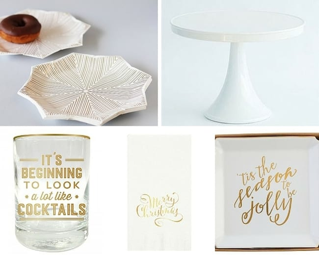 Tabletop Gold Foil Party