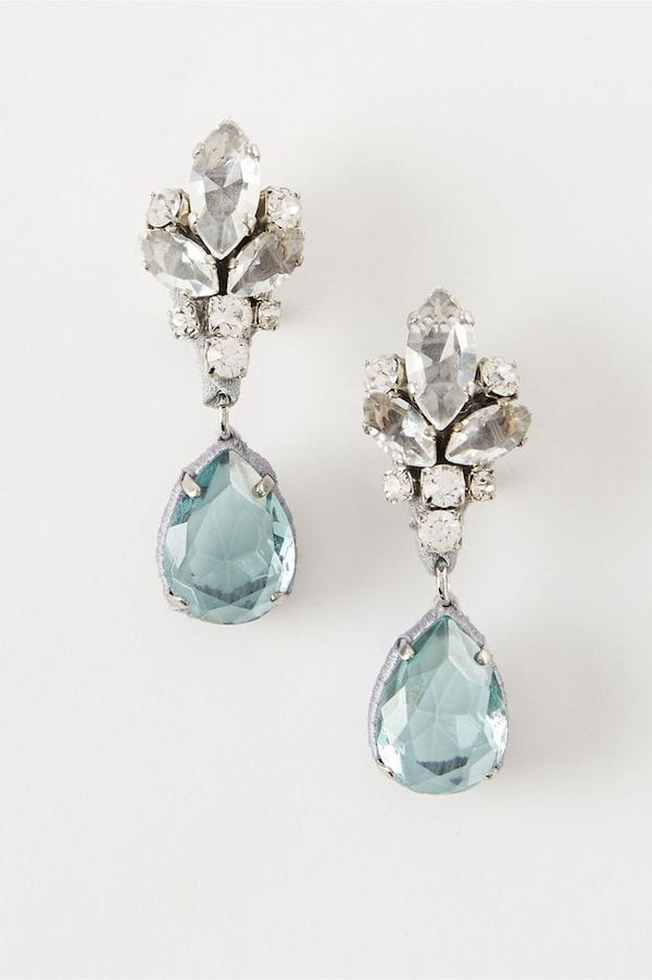 something blue: bridal earrings