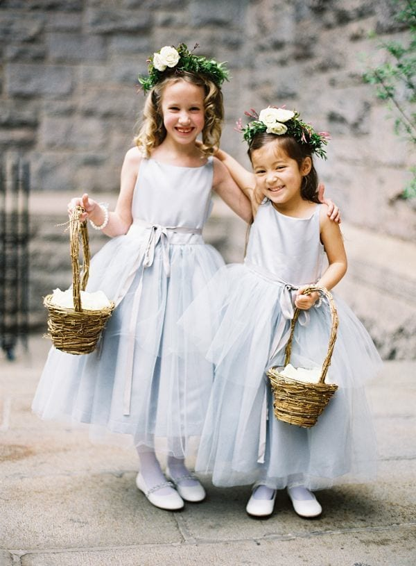 something blue: flower girl dresses