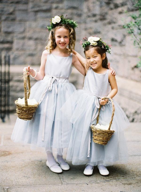 something blue: flower girl dresses
