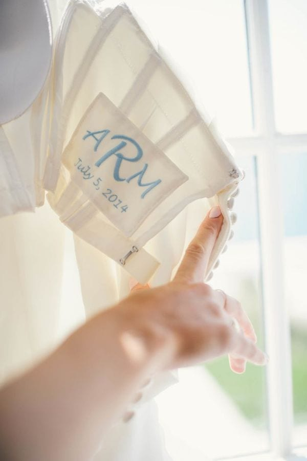 something blue: bridal monogram