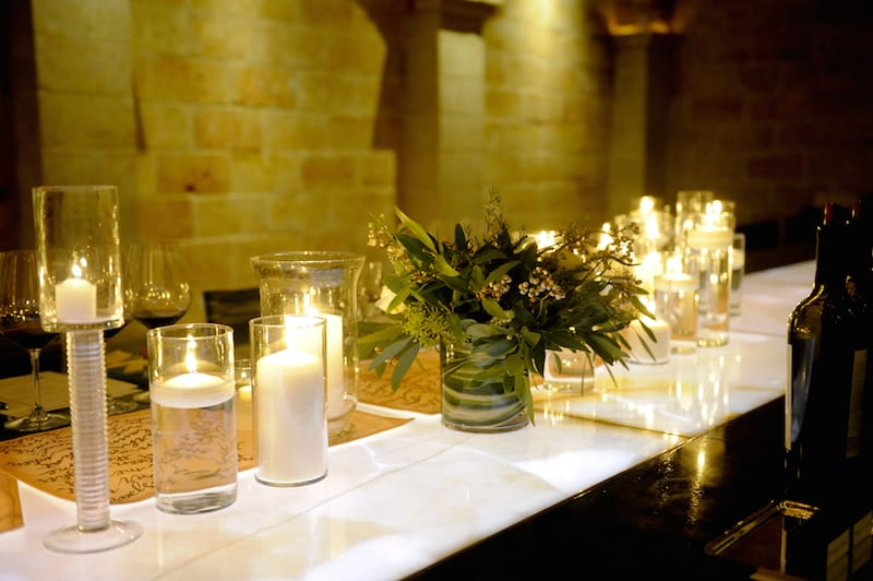 Candles Covering Table