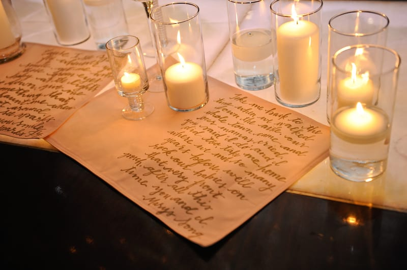 taylor swift song in marriage proposal decor