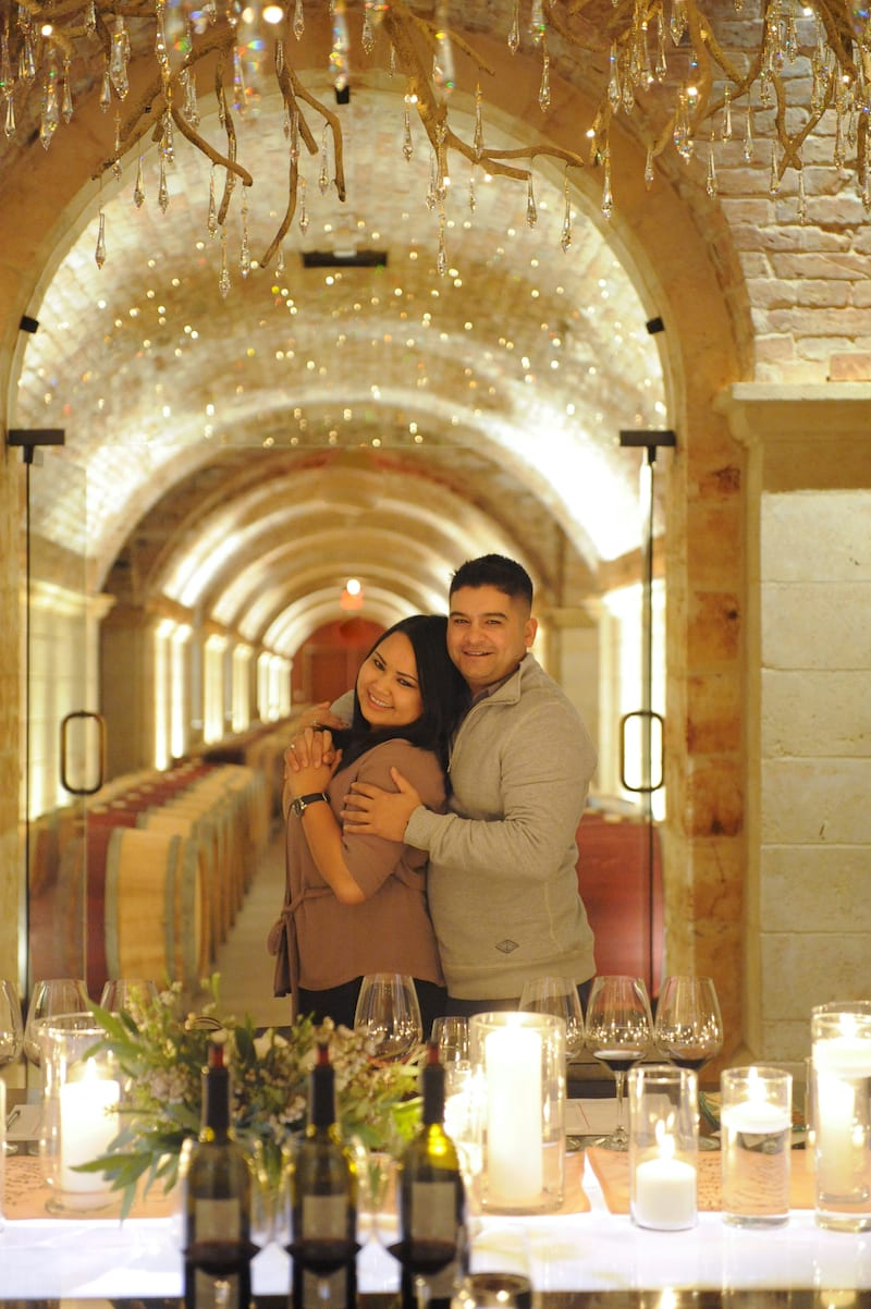 indoor proposal in wine country