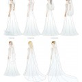 Different options for bridal veils