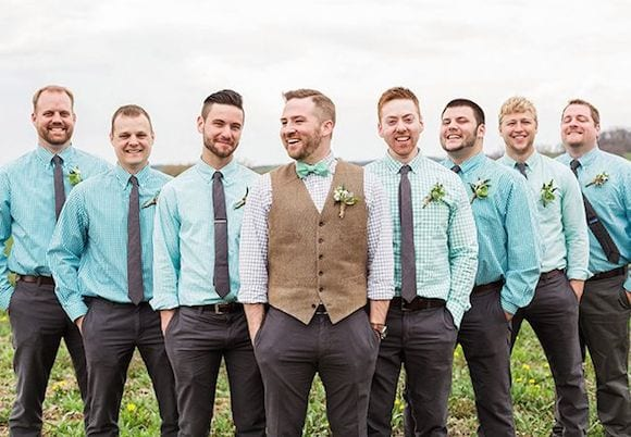 shades of blue and neutrals groomsmen