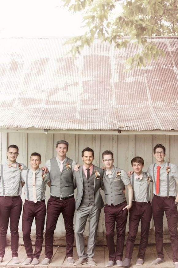 different gray groomsmen outfits
