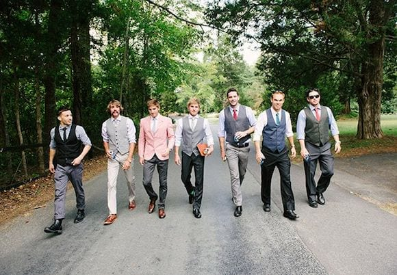 mix match groomsman