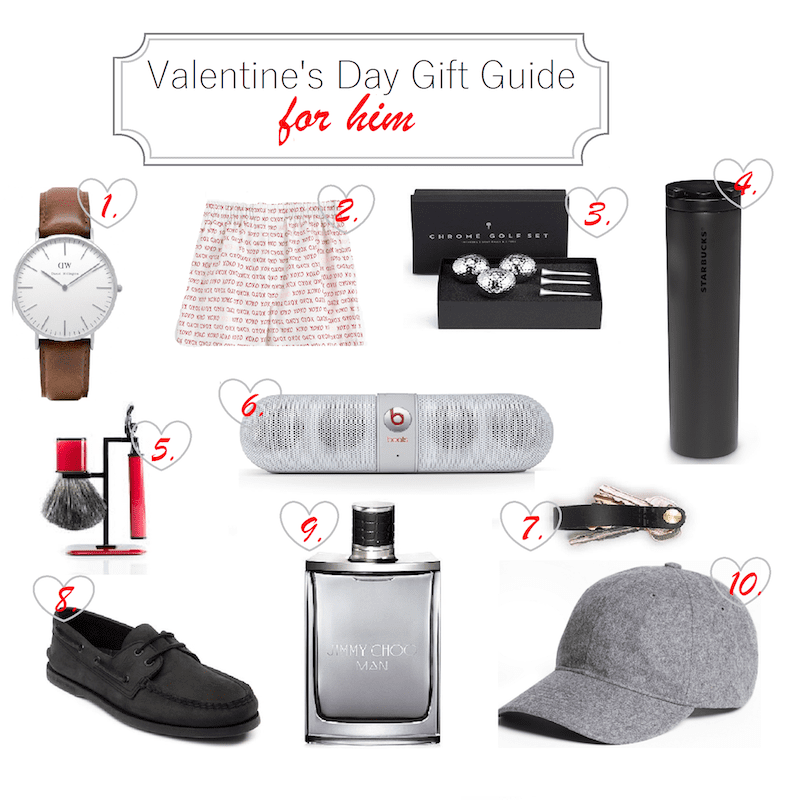 gift guide for him on valentine's