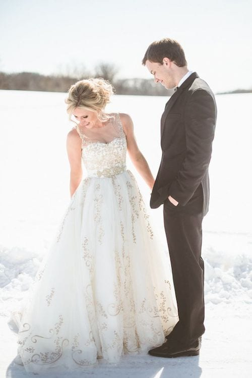 cold weather bridal gown inspiration